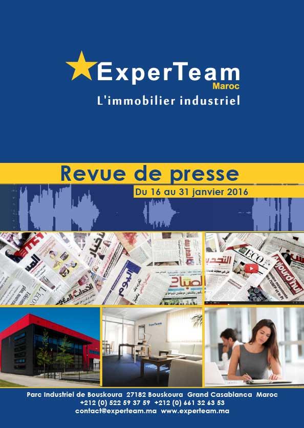 Revue de presse du 16 au 31 janvier 2016 for Presse agrume professionnel maroc